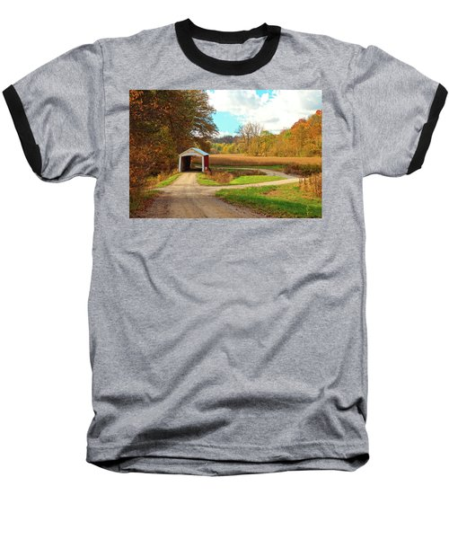 Baseball T-Shirt featuring the photograph Fall Harvest - Parke County by Harold Rau