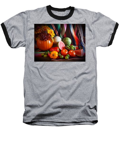 Baseball T-Shirt featuring the painting Fall Harvest Still Life by Marilyn Smith