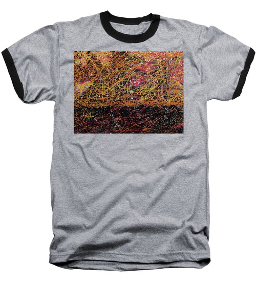 Baseball T-Shirt featuring the digital art Fall Homage To Jackson by Walter Fahmy