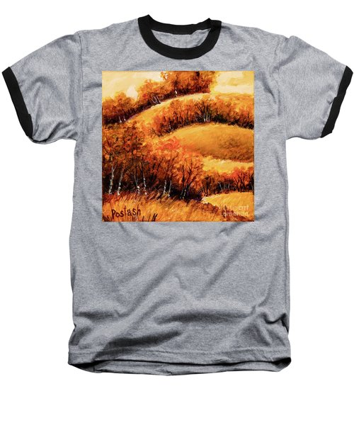 Fall Baseball T-Shirt by Igor Postash