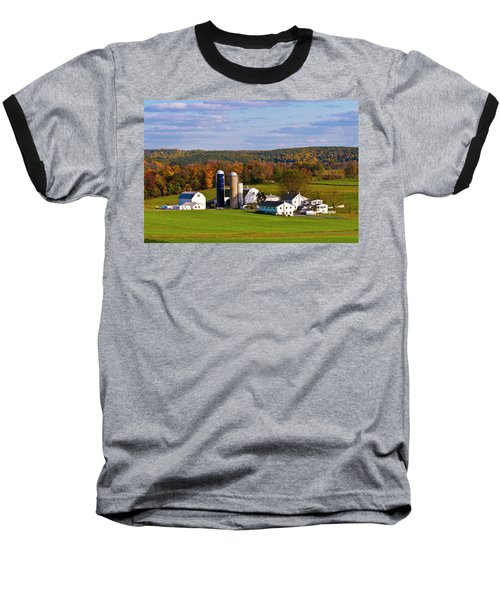 Fall In Amish Country Baseball T-Shirt by Lou Ford