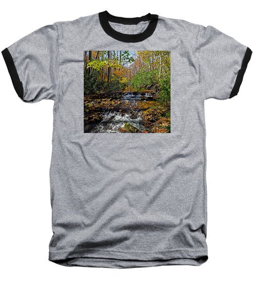 Fall In Cataloochee Baseball T-Shirt by Paul Mashburn