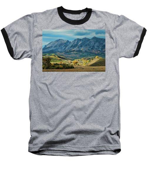 Fall In Gunnison County Baseball T-Shirt by Dana Sohr