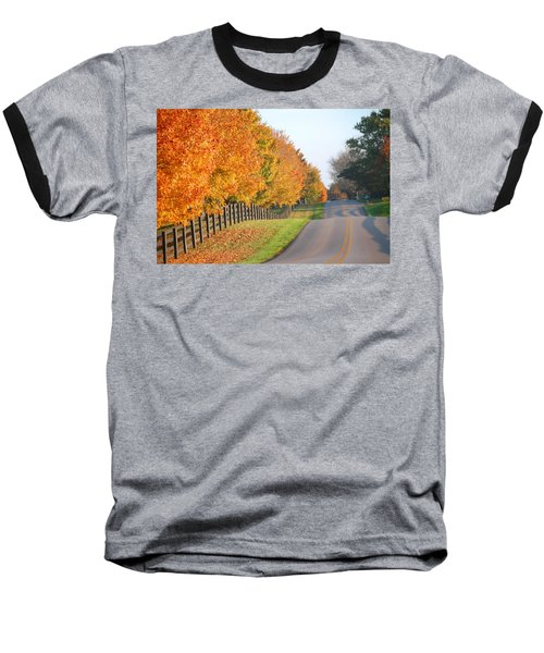 Fall In Horse Farm Country Baseball T-Shirt by Sumoflam Photography