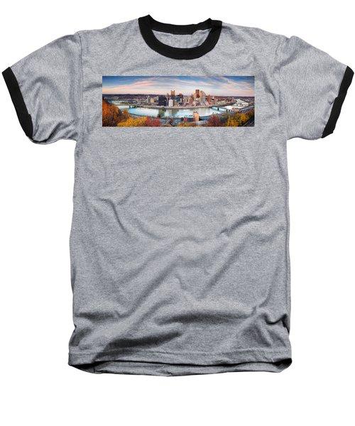 Fall In Pittsburgh  Baseball T-Shirt