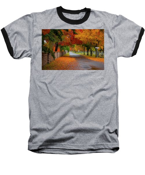 Fall In The Cemetery Baseball T-Shirt