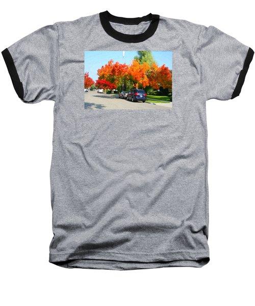 Fall In The City Baseball T-Shirt
