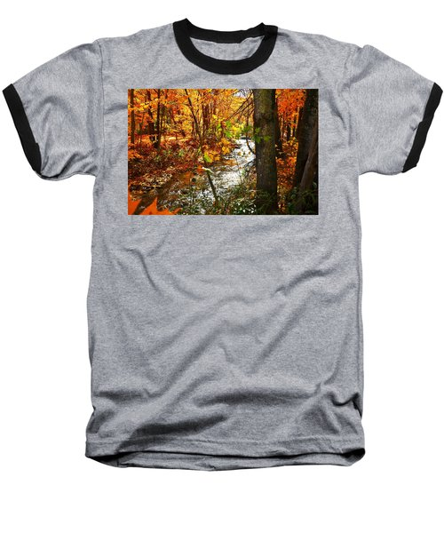 Fall In The Mountains Baseball T-Shirt