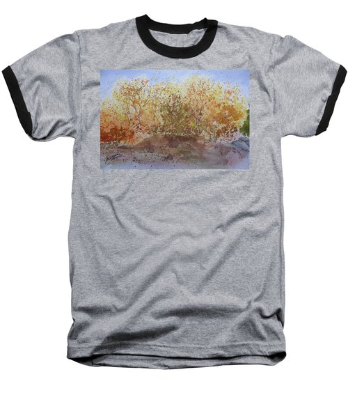 Baseball T-Shirt featuring the painting Fall In The Tejas High Country by Joel Deutsch