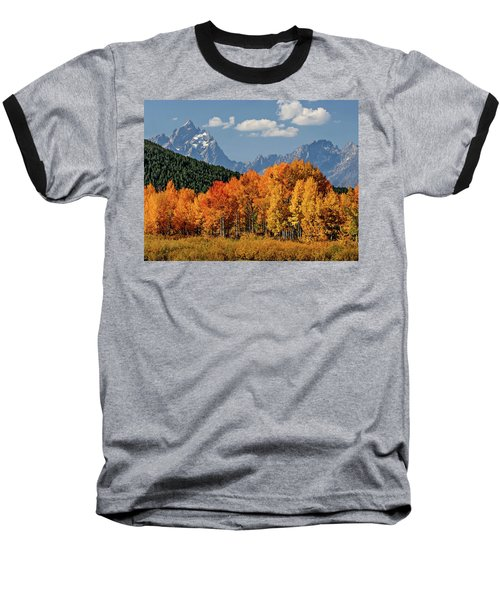 Baseball T-Shirt featuring the photograph Fall In The Tetons by Wesley Aston