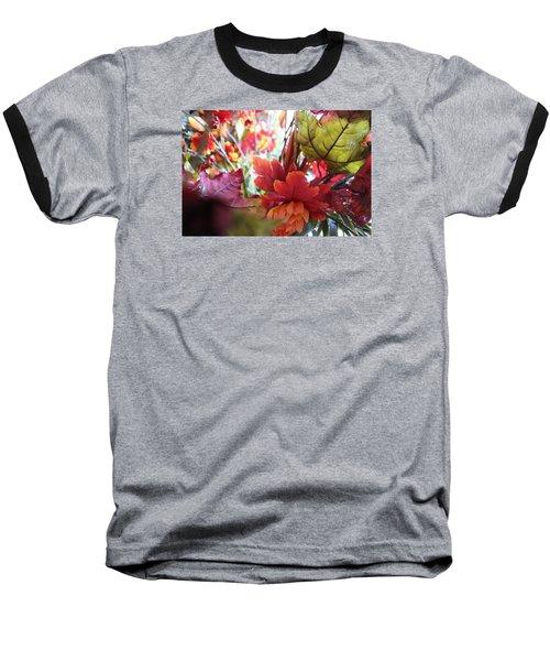 Fall Leaves Design 2 Baseball T-Shirt