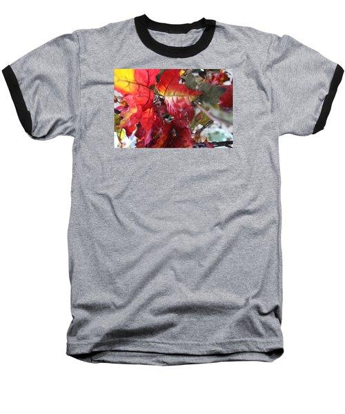 Fall Leaves Design 4 Baseball T-Shirt
