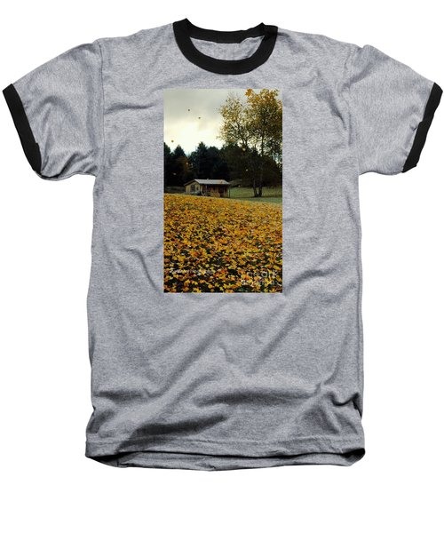 Baseball T-Shirt featuring the photograph Fall Leaves - No. 2015 by Joe Finney