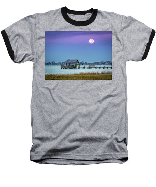 Fall Moon And King Tide - Charleston Sc Baseball T-Shirt