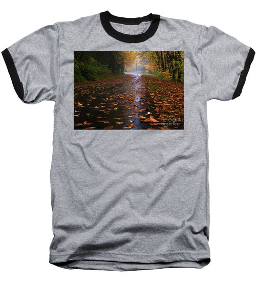 Fall Morning, Great Smoky Mountains National Park Baseball T-Shirt