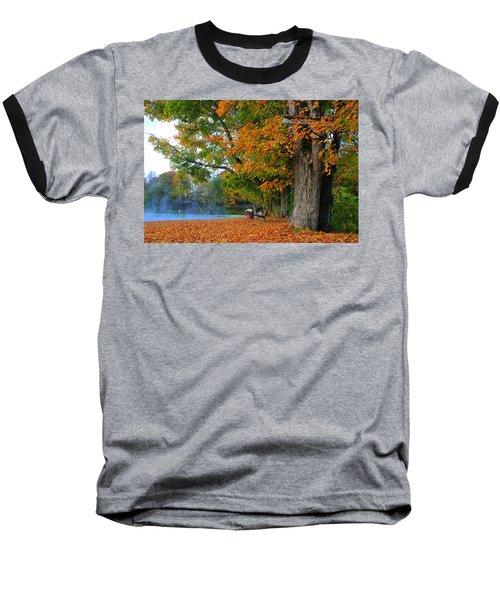 Fall Morning In Jackson Baseball T-Shirt