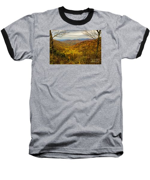 Baseball T-Shirt featuring the photograph Fall Mountain Overlook by Barbara Bowen