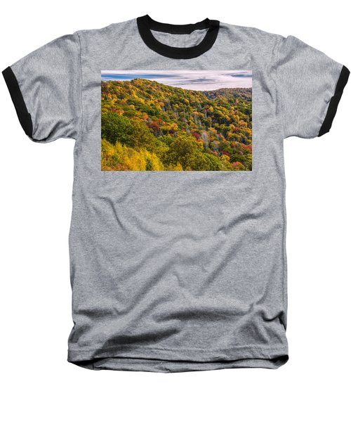 Baseball T-Shirt featuring the photograph Fall Mountain Side by Tyson Smith