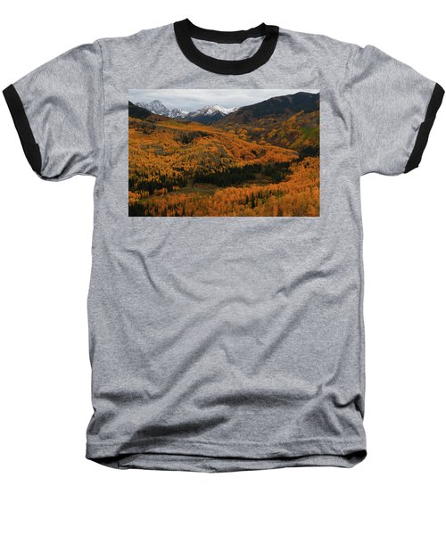 Fall On Full Display At Capitol Creek In Colorado Baseball T-Shirt by Jetson Nguyen