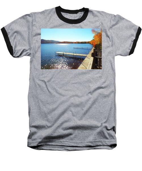 Fall On Lake Dunmore Baseball T-Shirt