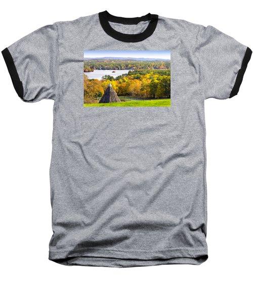 Fall On Lake Winnipesaukee At Center Harbor Baseball T-Shirt by Betty Denise