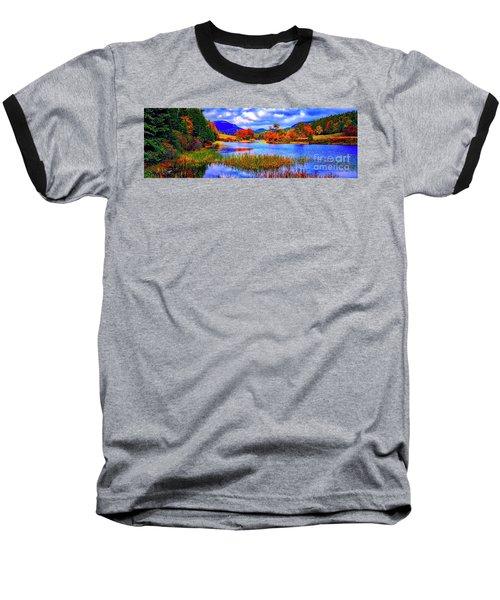 Fall On Long Pond Acadia National Park Maine  Baseball T-Shirt