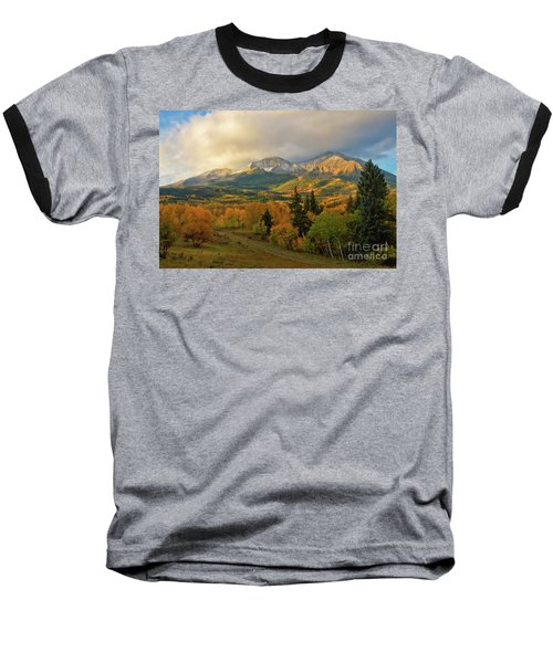 Fall On Mt Sopris  Baseball T-Shirt