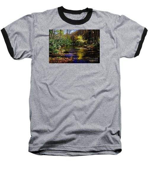 Fall On Rough Creek Baseball T-Shirt by Paul Mashburn