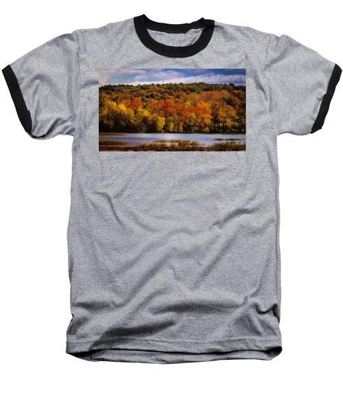 Fall On Springfield Lake Baseball T-Shirt