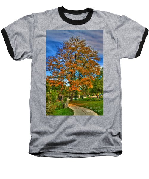 Fall On The Walk Baseball T-Shirt