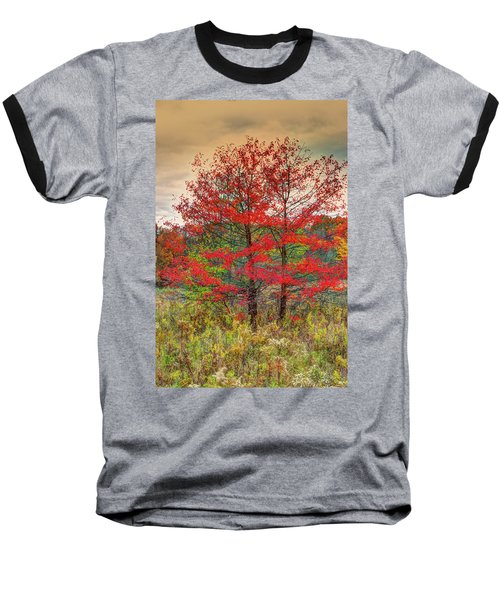 Baseball T-Shirt featuring the photograph Fall Painting by Skip Tribby