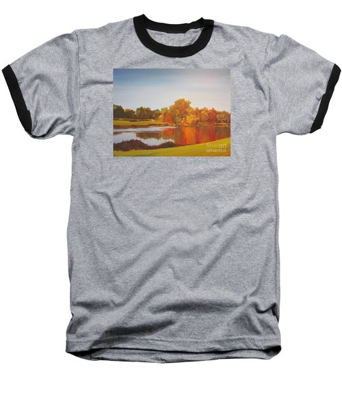 Fall Perfection Baseball T-Shirt by Elizabeth Carr