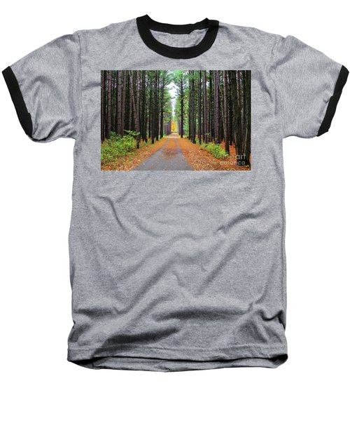Fall Pines Road Baseball T-Shirt