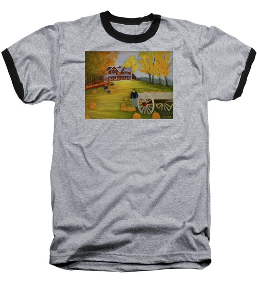 Fall Pumpkin Harvest Baseball T-Shirt