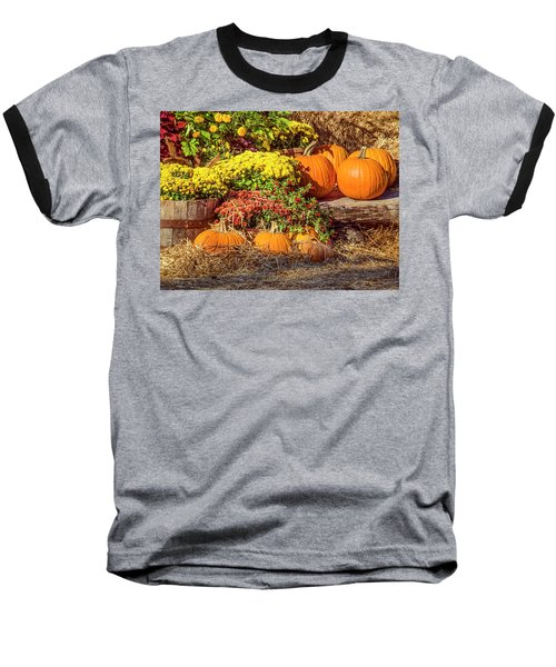 Fall Pumpkins Baseball T-Shirt by Carolyn Marshall