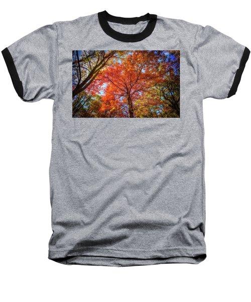 Fall Red Baseball T-Shirt