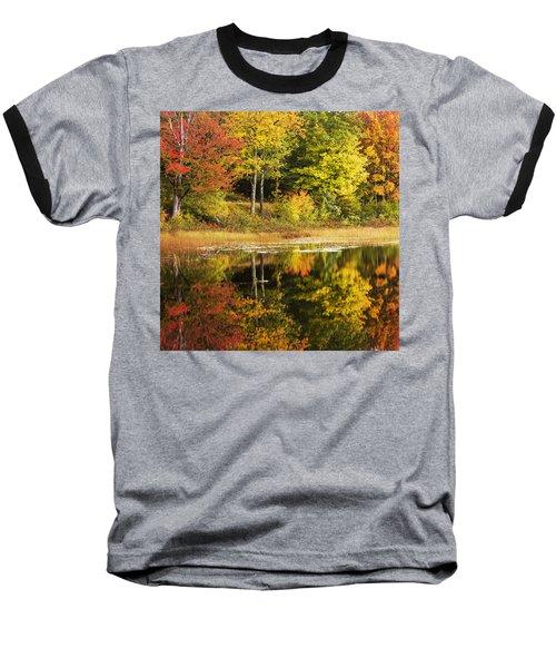 Baseball T-Shirt featuring the photograph Fall Reflection by Chad Dutson