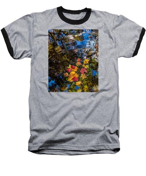 Fall Reflection - Pisgah National Forest Baseball T-Shirt