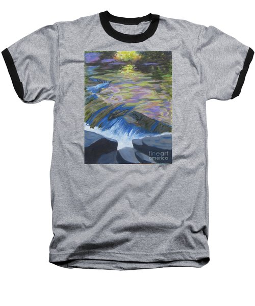 Fall Reflections Baseball T-Shirt by Anne Marie Brown