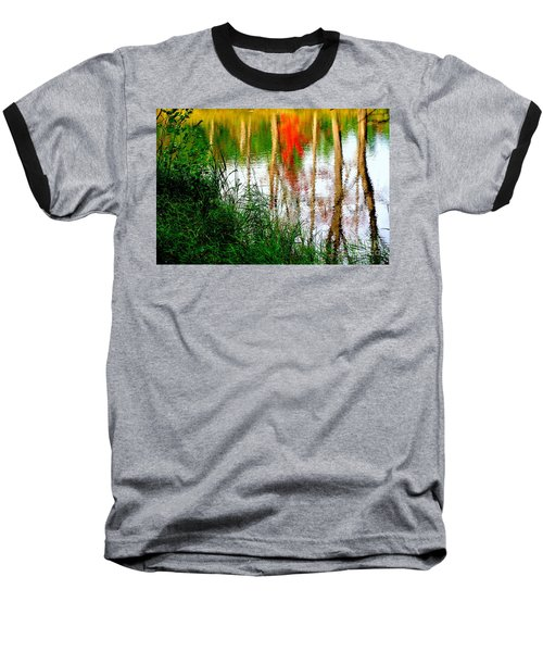 Baseball T-Shirt featuring the photograph Fall Reflections by Elfriede Fulda