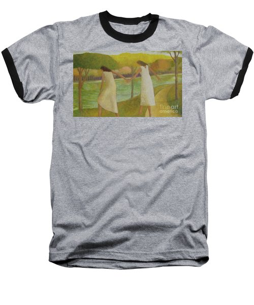 Baseball T-Shirt featuring the painting Fall River by Glenn Quist