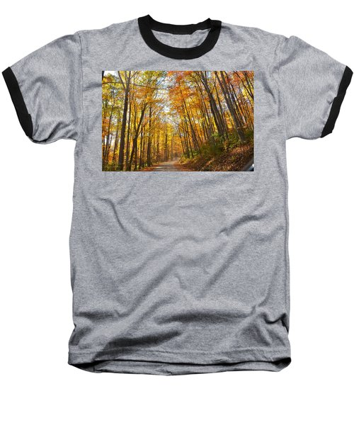 Fall Road Baseball T-Shirt