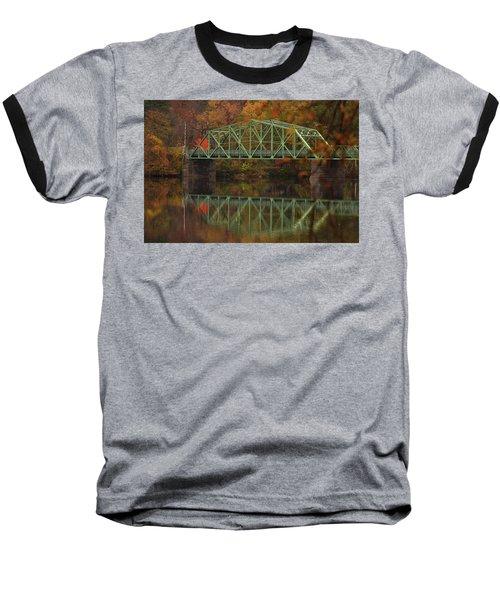 Fall Rocks Village Bridge Baseball T-Shirt