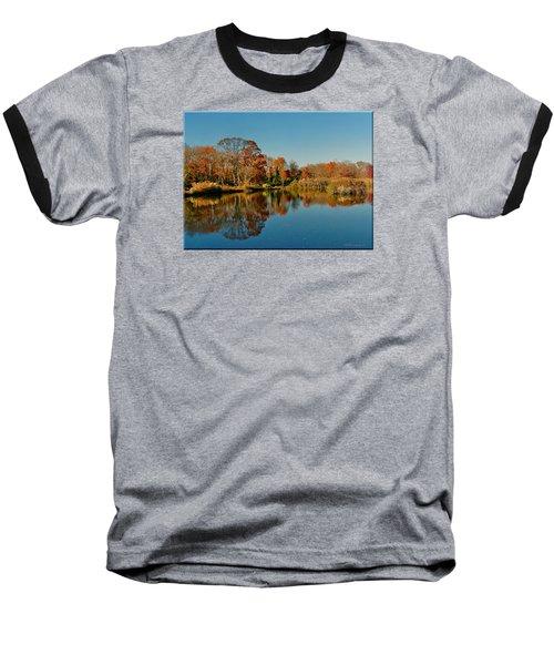 Fall Scene Baseball T-Shirt by Mikki Cucuzzo