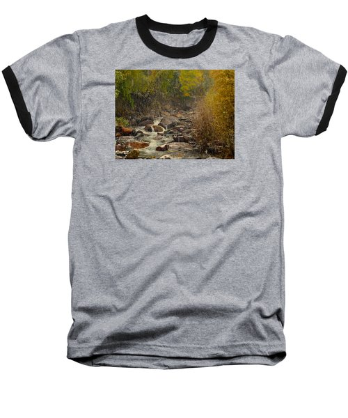 Baseball T-Shirt featuring the photograph Fall Snow Storm by Laura Ragland
