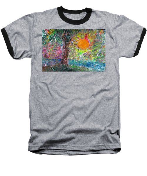 Baseball T-Shirt featuring the painting Fall Sun by Jacqueline Athmann