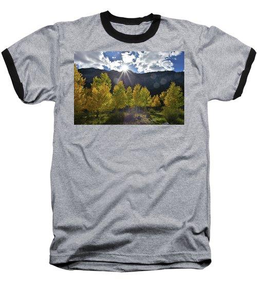 Fall Sun Setting Over Mt. Charleston Baseball T-Shirt