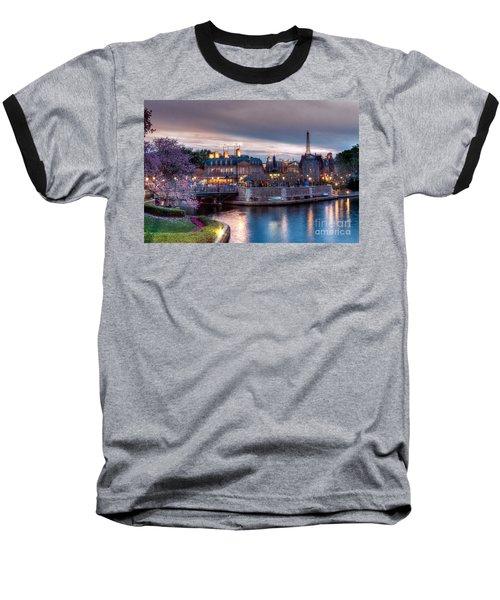 Fall Sunset Of France Baseball T-Shirt