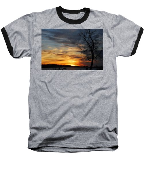 Fall Sunset Baseball T-Shirt