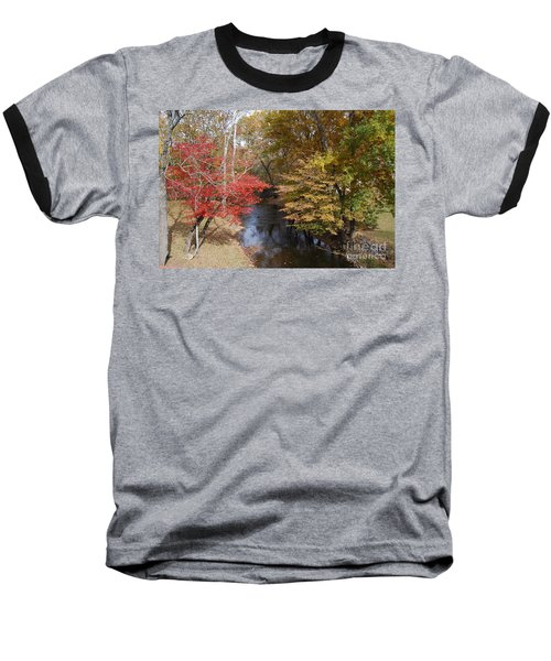 Fall Transition Baseball T-Shirt by Eric Liller